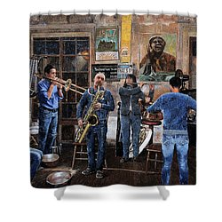 L'orchestra Shower Curtain
