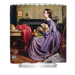 Lord - Thy Will Be Done Shower Curtain by Philip Hermogenes Calderon