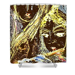 Lord Krishna And   Radha ,the Ultimate Love Concept Shower Curtain