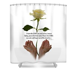 Lord, O My Soul Shower Curtain by Ann Lauwers