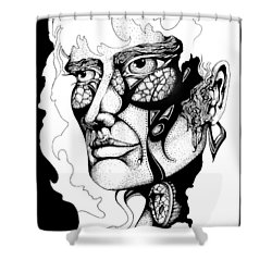 Lord Of The Flies Study Shower Curtain by Curtiss Shaffer