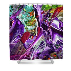 Lord Of The Rings Art - Colorful Modern Abstract Painting Shower Curtain