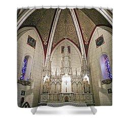 Shower Curtain featuring the photograph Loretto Chapel Santa Fe by Kurt Van Wagner