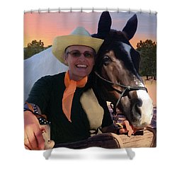 Lori And Paco Shower Curtain