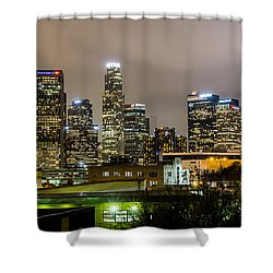 Shower Curtain featuring the photograph Los Angeles At Night by April Reppucci