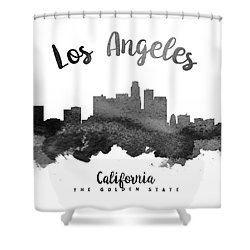 Los Angeles California Skyline 18 Shower Curtain by Aged Pixel