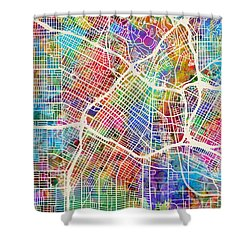 Los Angeles City Street Map Shower Curtain