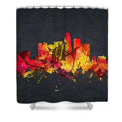 Los Angeles Cityscape 07 Shower Curtain by Aged Pixel