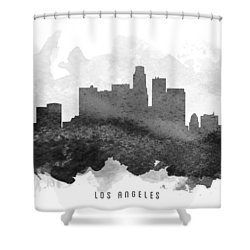 Los Angeles Cityscape 11 Shower Curtain by Aged Pixel