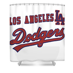 Los Angeles Dodgers Shower Curtain by Gina Dsgn