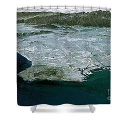 Los Angeles, Radar Image Shower Curtain by NASA / Science Source