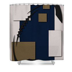 los angeles rams football art shower curtain