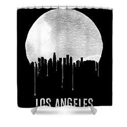 Los Angeles Skyline Black Shower Curtain