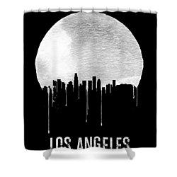 Los Angeles Skyline Black Shower Curtain by Naxart Studio