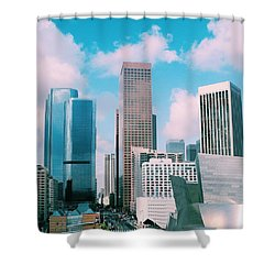 Los Angeles Skyline Shower Curtain