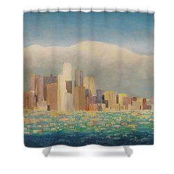 Los Angeles Sunset Shower Curtain by Douglas Castleman