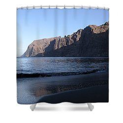 Los Gigantes Yacht Shower Curtain by Phil Crean