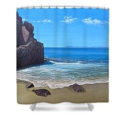 Los Muertos Beach Shower Curtain