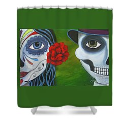 Los Novios Shower Curtain
