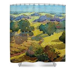 Los Olivos Impression Shower Curtain
