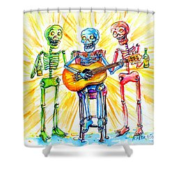 Los Tres Cantantes Shower Curtain
