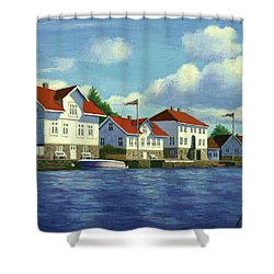Loshavn Village Norway Shower Curtain