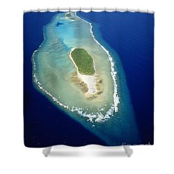 Losiep Atoll Shower Curtain by Mitch Warner - Printscapes
