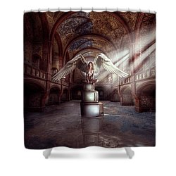 Shower Curtain featuring the digital art Losing My Religion by Nathan Wright