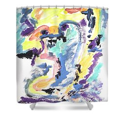 Shower Curtain featuring the painting Loss Of Consciousness by Esther Newman-Cohen