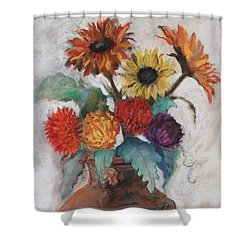 Lost And Found Shower Curtain by Robin Maria Pedrero