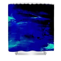 Lost At Sea - Above The Silver Clouds Shower Curtain