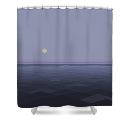 Shower Curtain featuring the digital art Lost At Sea - Square by Val Arie