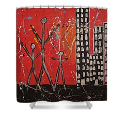 Lost Cities 13-001 Shower Curtain