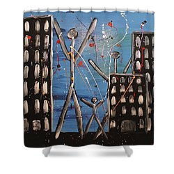 Lost Cities 13-003 Shower Curtain