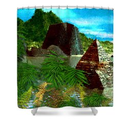 Lost City Shower Curtain by David Lane