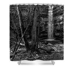 Lost Creek In Black And White Shower Curtain