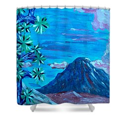 Lost Horse Cloud Shower Curtain by Carolina Liechtenstein