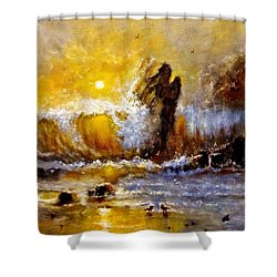 Lost In A Sunset.. Shower Curtain by Cristina Mihailescu