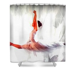 Lost In Motion - Celion Shower Curtain by Sir Josef - Social Critic -  Maha Art