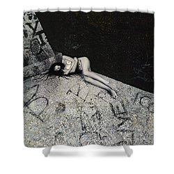 Lost In New York Shower Curtain by Yelena Tylkina