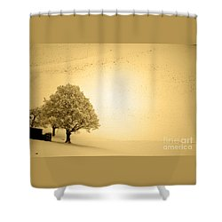 Shower Curtain featuring the photograph Lost In Snow - Winter In Switzerland by Susanne Van Hulst