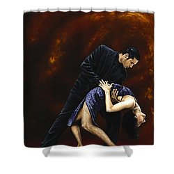 Lost In Tango Shower Curtain by Richard Young