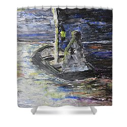 Lost In The Dark Abstract Shower Curtain