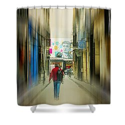 Lost In The Maze Of The City Shower Curtain