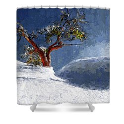 Lost In The Snow Shower Curtain by Alex Galkin