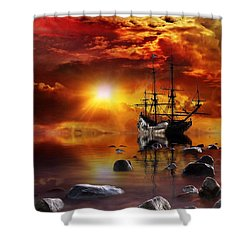 Lost In Time Shower Curtain by Gabriella Weninger - David