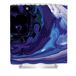 Shower Curtain featuring the digital art Lost-in-to-the-eye by Rabi Khan