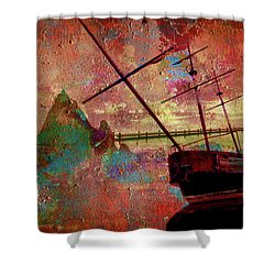 Lost Island Shower Curtain