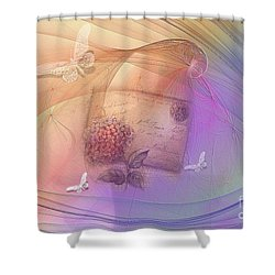 Lost Letter Shower Curtain