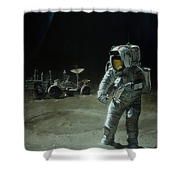 Lost Moon Shower Curtain by Simon Kregar